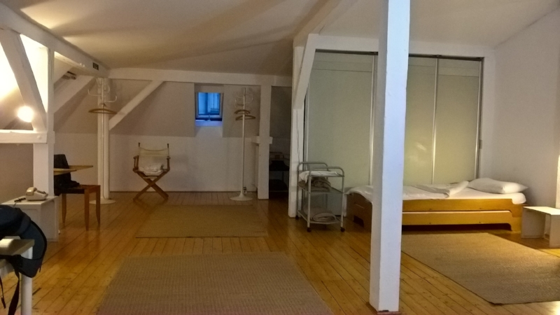The attic room at Pension Aller