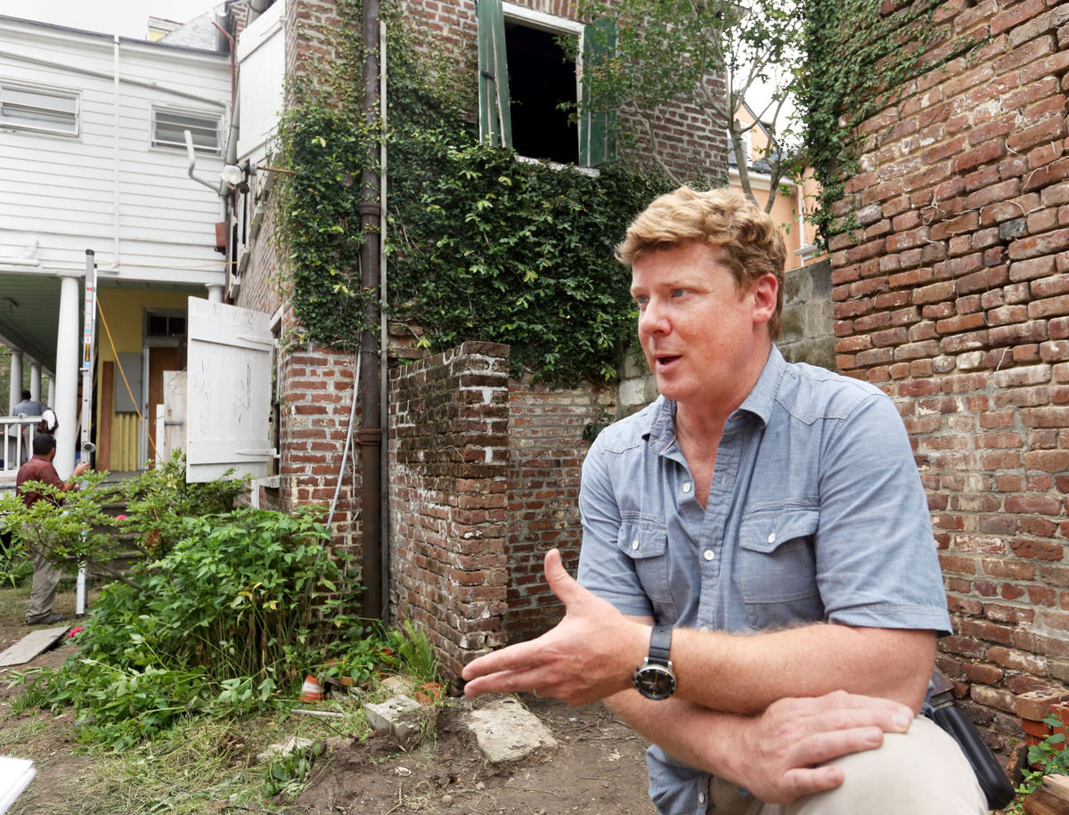 "Kevin O'Connor, host of ""This Old House,"" talks about the filming of the show's first renovation in Charleston. Brad Nettles/Staff. Brad Nettles bnettles@postandcourier.com"