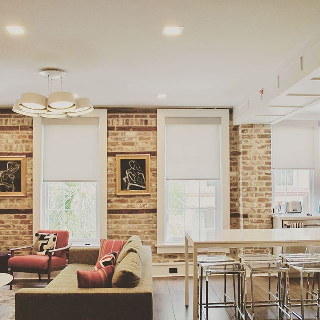 Cozy and modern, finished 3 bedroom apartment hidden in the heart of historic downtown Charleston #kingstreet #renovation #historic #restoration