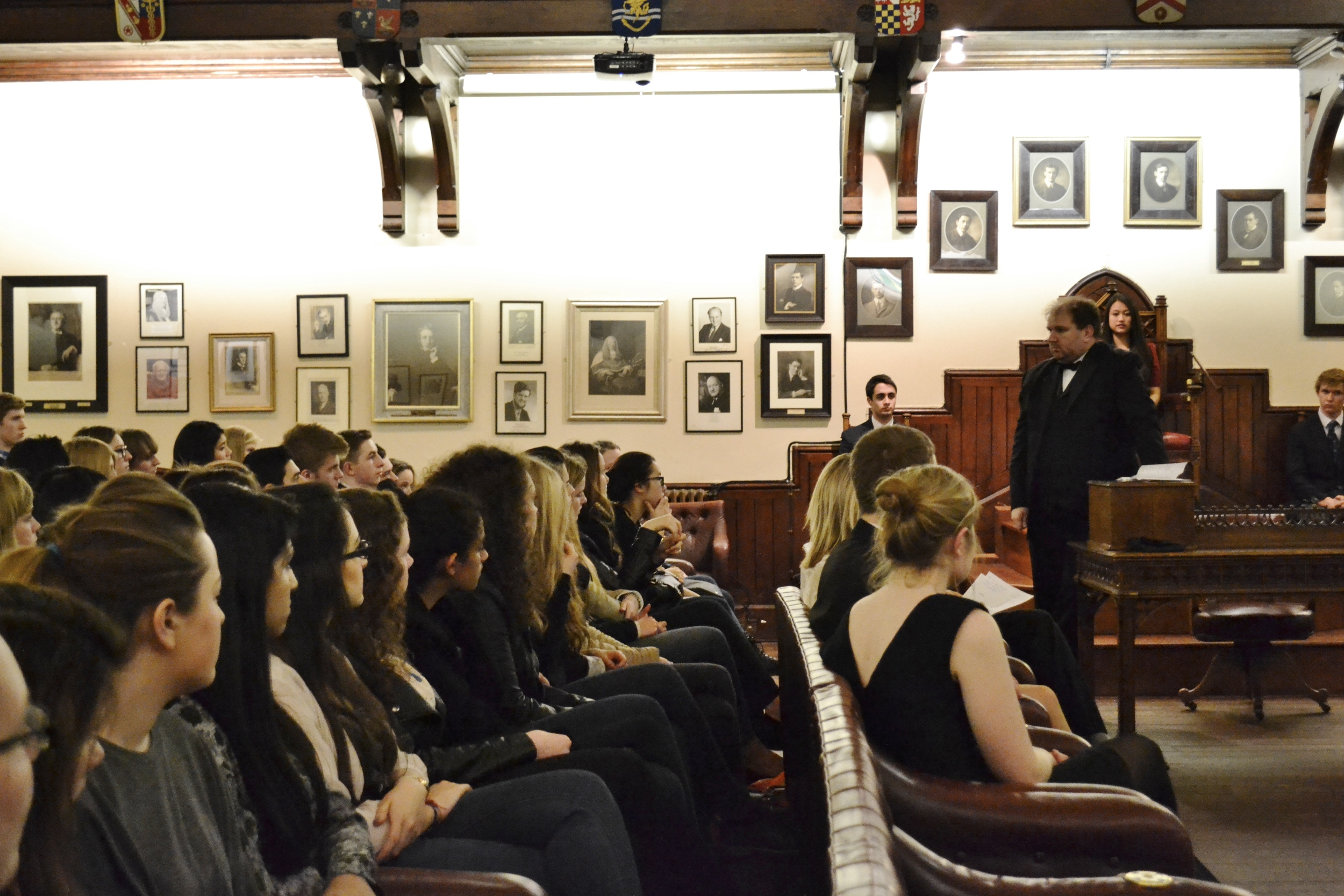Our Mock Trial is held in the prestigious chamber of the Cambridge Union Society - often the highlight of our delegates' week!