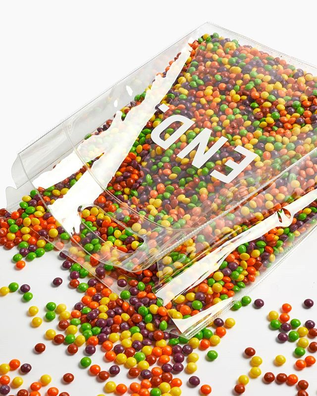 🌈🌈🌈 For @end_clothing  #skittles #clearbag