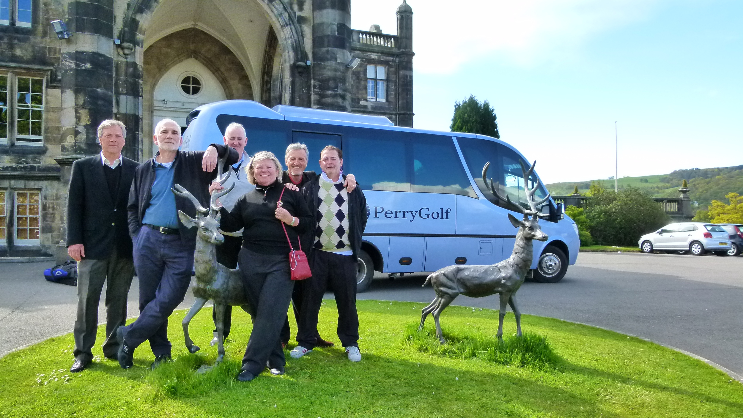 US & UK journalists visit Mar Hall as part of the Golf Road Warriors roadshow...