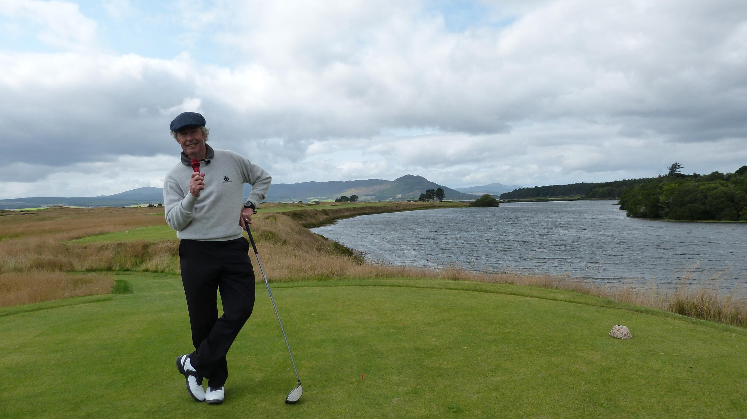 Golf Writer & Presenter Clive Agran at Skibo Castle, Scottish Highlands