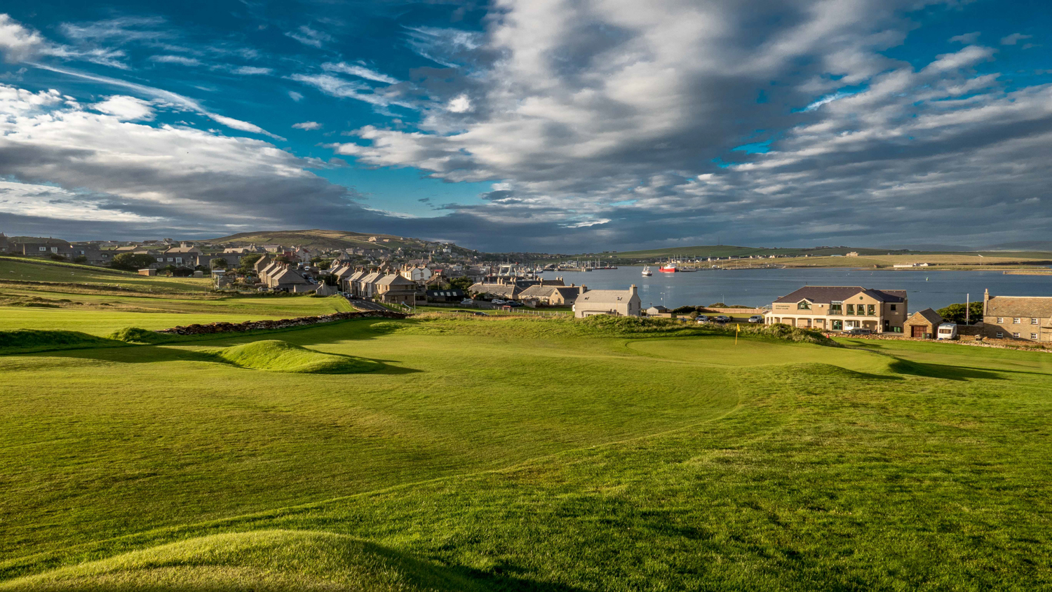 Stromness Golf Club has stunning views in every direction