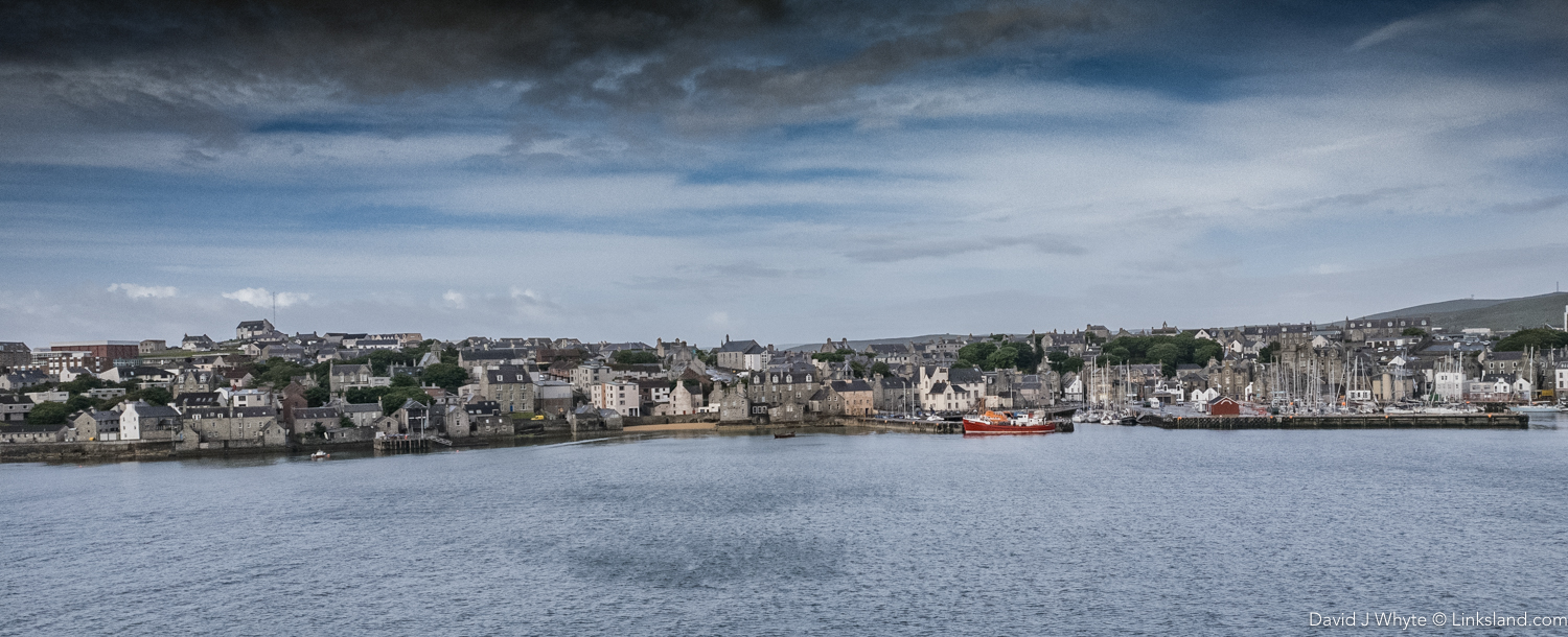 Northlink Ferry approaches Lerwick Harbour