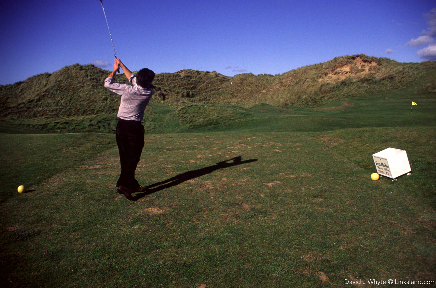 A blast from the past... back in the early 90's, the young Alistair Tait of Golf Monthly tees off into the great unknown.