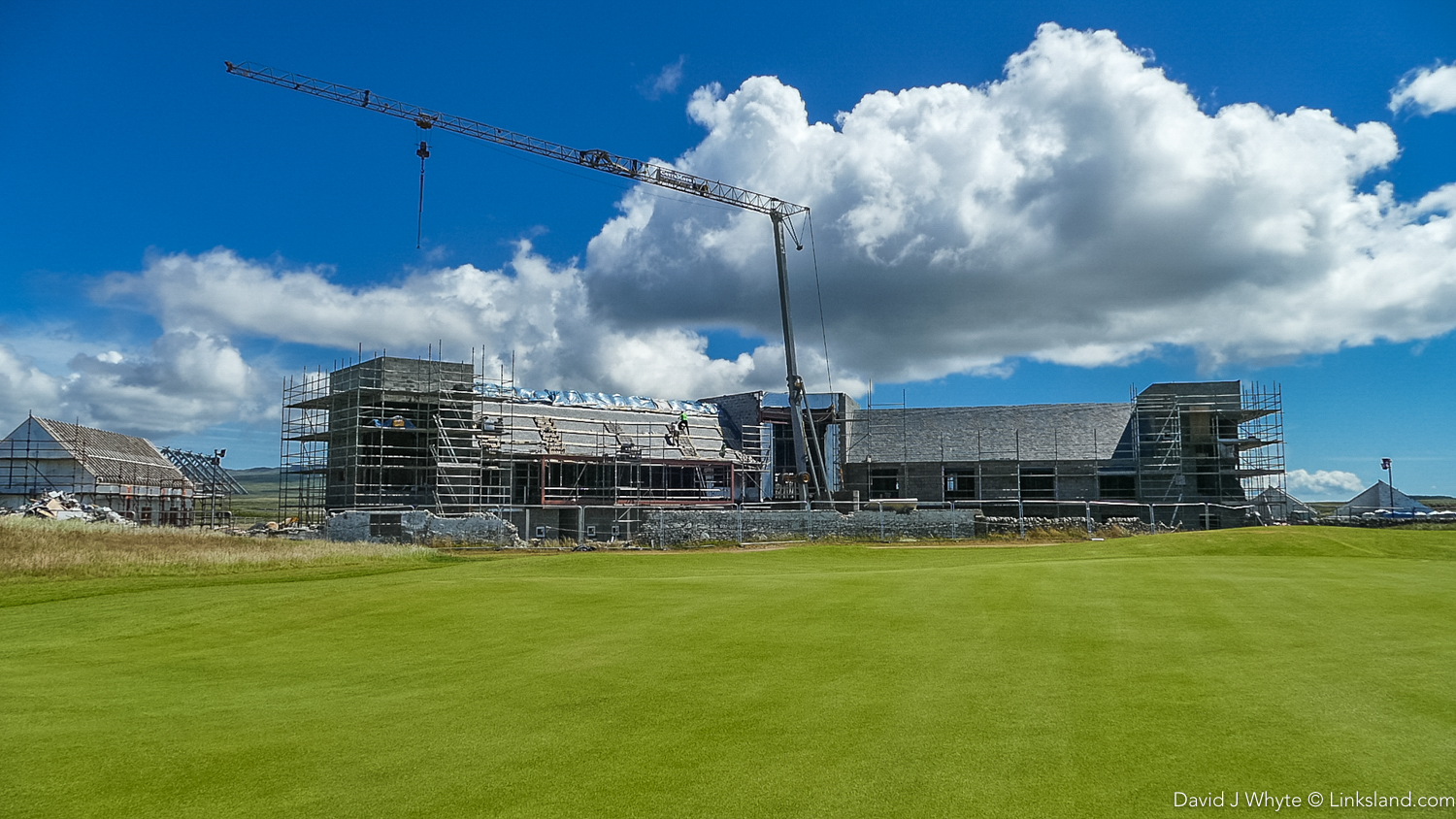 The new Machrie Hotel rises - opening in Spring, 2018 with 47 rooms and a wonderful whisky bar overlooking the 18th
