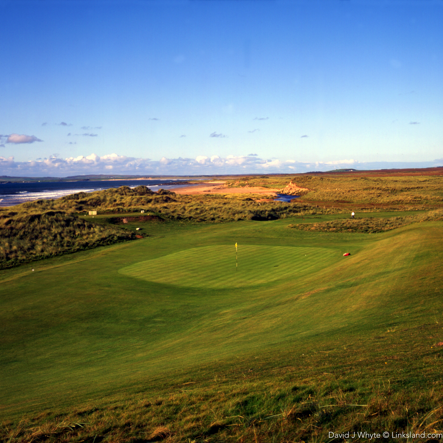 The old Machrie greens were rustic to say the least.