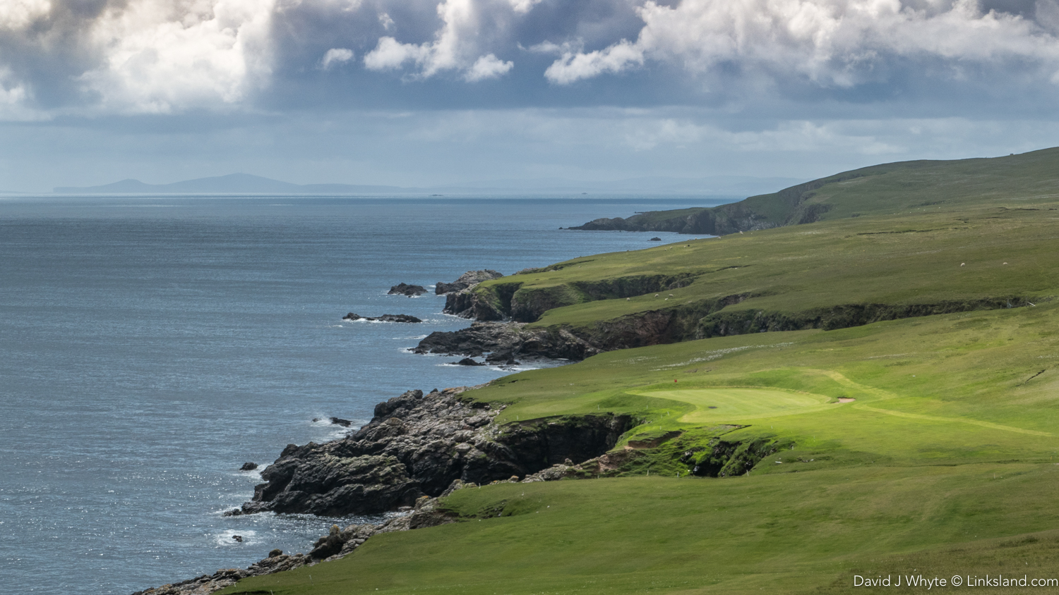 The 16th at Whalsay is surely one of the most dramatic holes in Scotland.