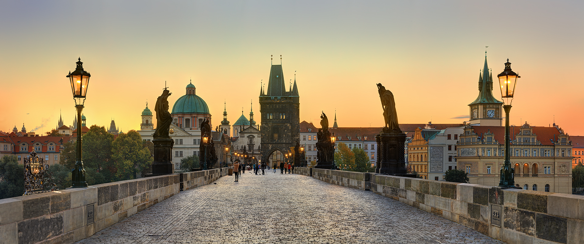 Catch Charles Bridge at sunset - it's seen a fair few in its 600 years