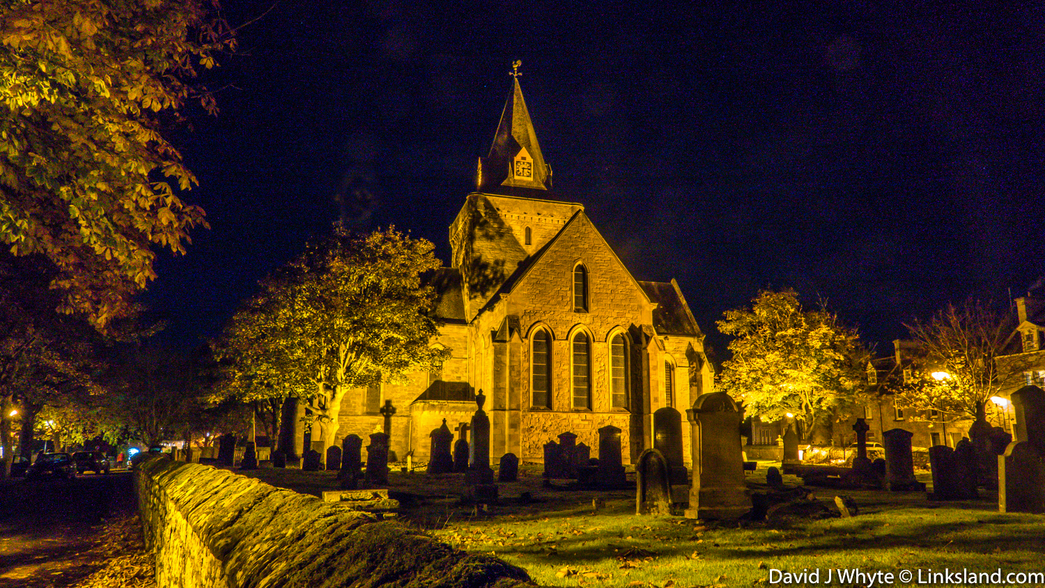 Dornoch Cathedral on fireworks night...