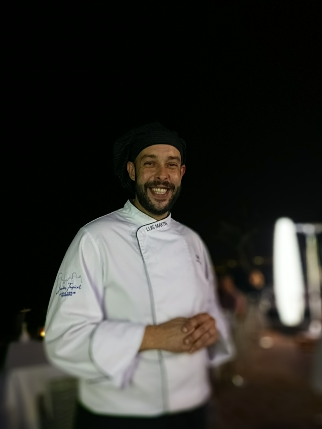 Chef Luis Martin orchestrated a magnicicent 'taster' menu at Las Rocas Restaurant in Jardin Tropical Hotel