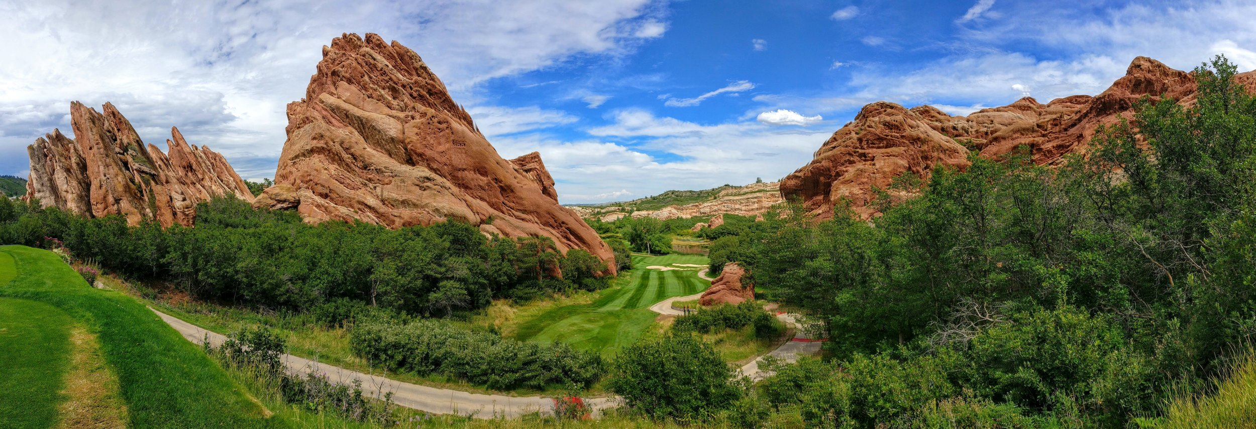 Arrowhead Golf Course, near Littleton, CO. This time I looked - next time I'll play
