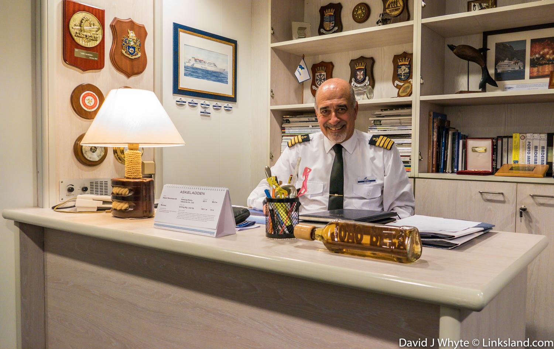 Porto Santo Line ship's captain, Joao Bela