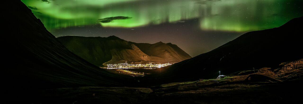 Northern Lights - a common phenom in winter Picture by Gunnlaugur Guðleifsson