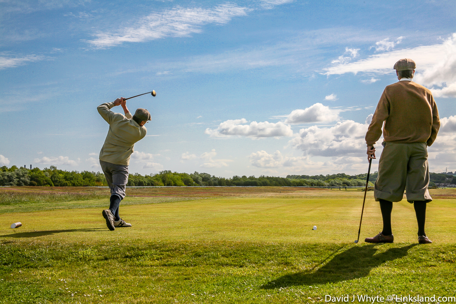 Hickory Golf at Musselburgh Old Links, the oldest playing golf course on the planet. There is documented evidence that the game was played here in 1672 and it is claimed that Mary, Queen of Scots, played at nearby Seton Palace in 1567