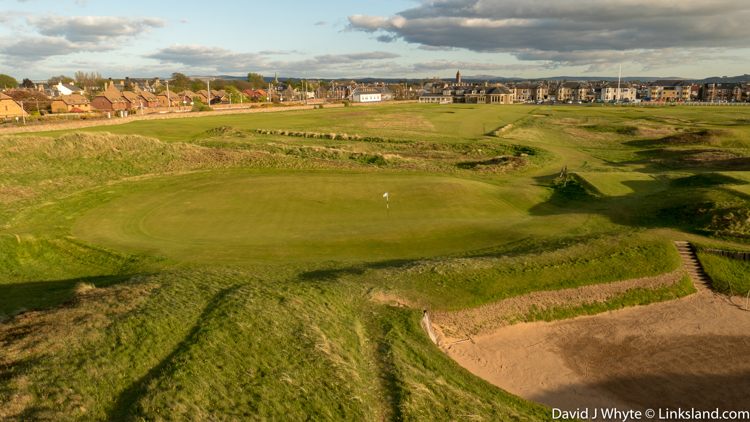 The 17th at Old Prestwick, the original 2nd hole from Old Tom's 1851 layout and the oldest existing hole in championship golf.