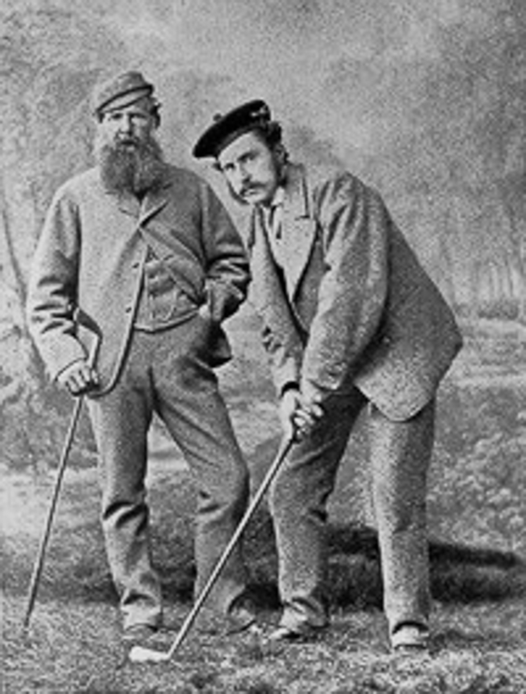 Old Tom Morris and his son, Tommy