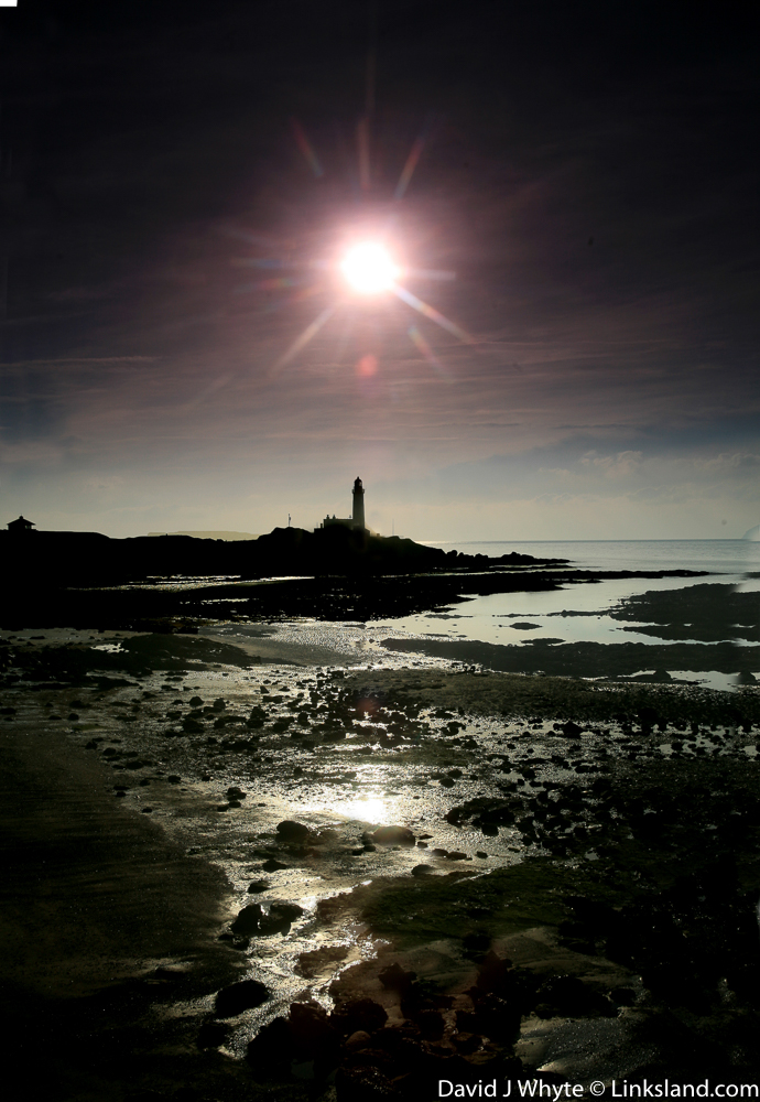 King Robert the Bruce's castle was positioned on the promontory of Turnberry Lighthouse, now luxurious apartments available to Linksland's guests.