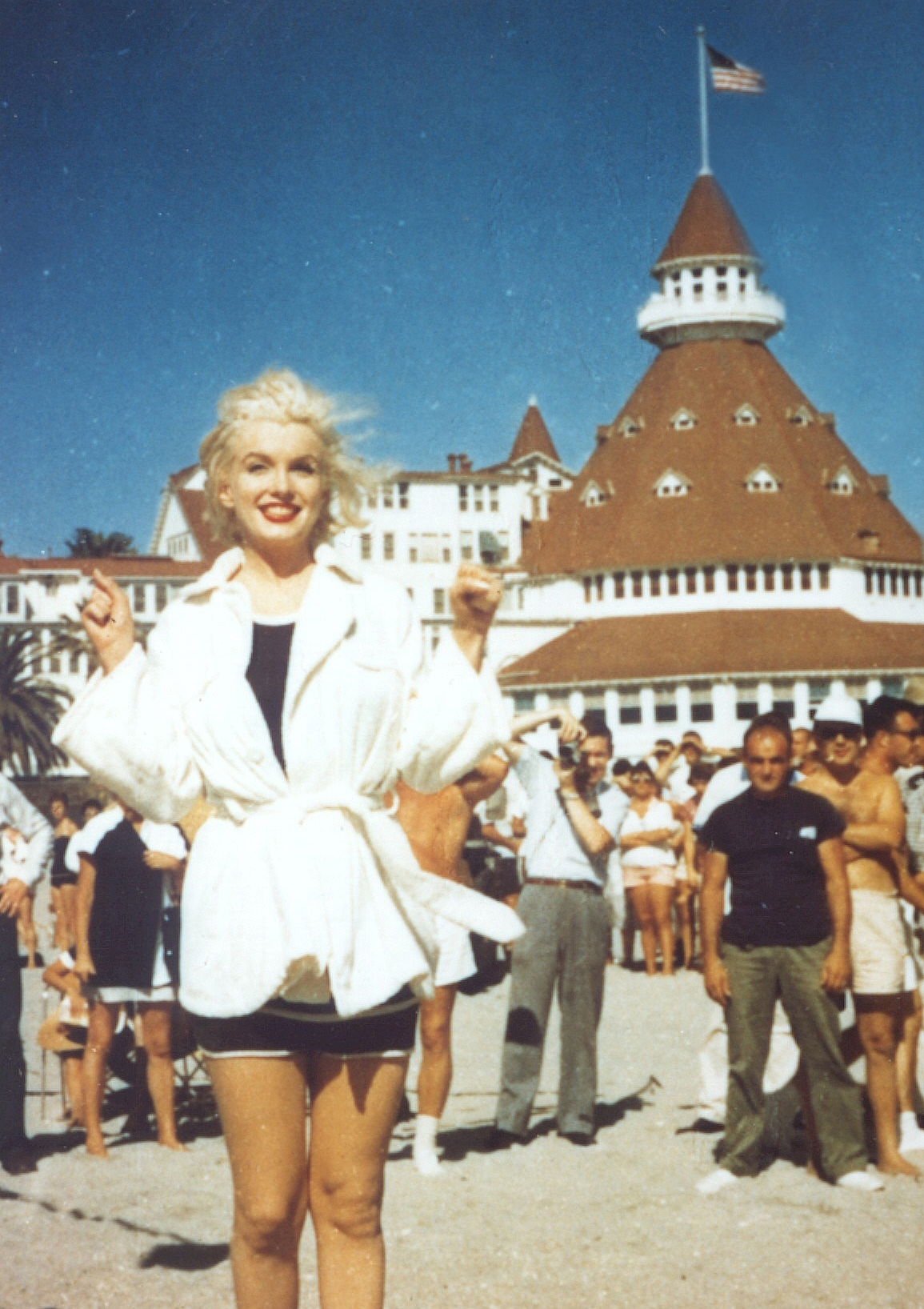 Marilyn Monroe on the set of 'Some Like It Hot' at the Hotel del Coronado