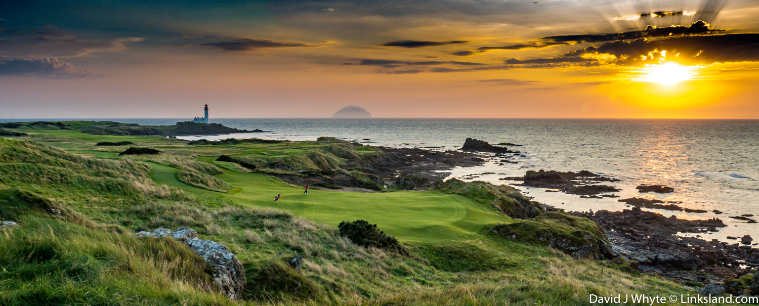 The Par 3, 11th at Trump Turnberry, one of several completely redesigned holes on the Ailsa Course that have reinvigorated this exceptional Open Championship venue.