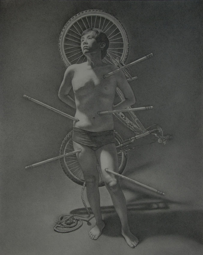 "Saint Sebastian   Graphite pencil, 18"" x 24"""