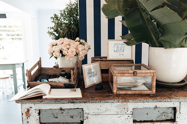 Wishing well & guest book details⁠ Photo | @lonelyhunter ⁠ #theboathousegroup #theboathousepalmbeach #weddings #events #watersidevenue