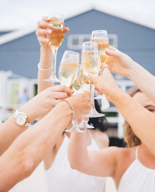 Cheers! Bridal party drinks⁠ #theboathousegroup #theboathouseshellybeach #celebrations #weddings #eventssydney