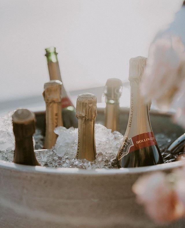 Bollinger on ice, ready for celebrating!  #theboathousegroup #theboathousepalmbeach #palmbeachweddings #bubbles #celebrating