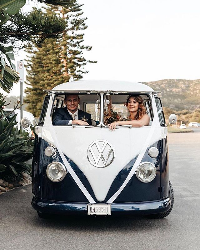In the kombi out the front of The Boathouse @lonelyhunter  #theboathousegroup #theboathousepalmbeach #sydney #weddingvenue #sydneywedding