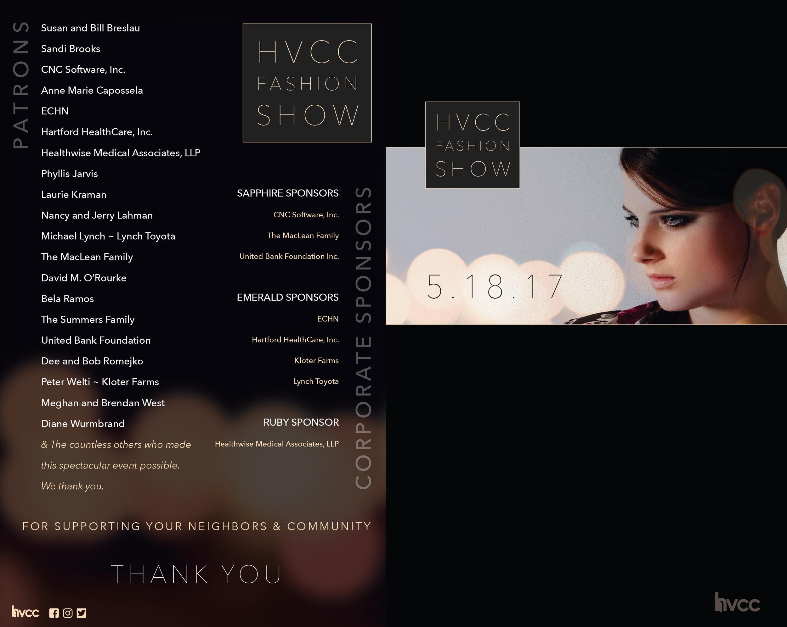 Fashion Show Program (covers) • Print
