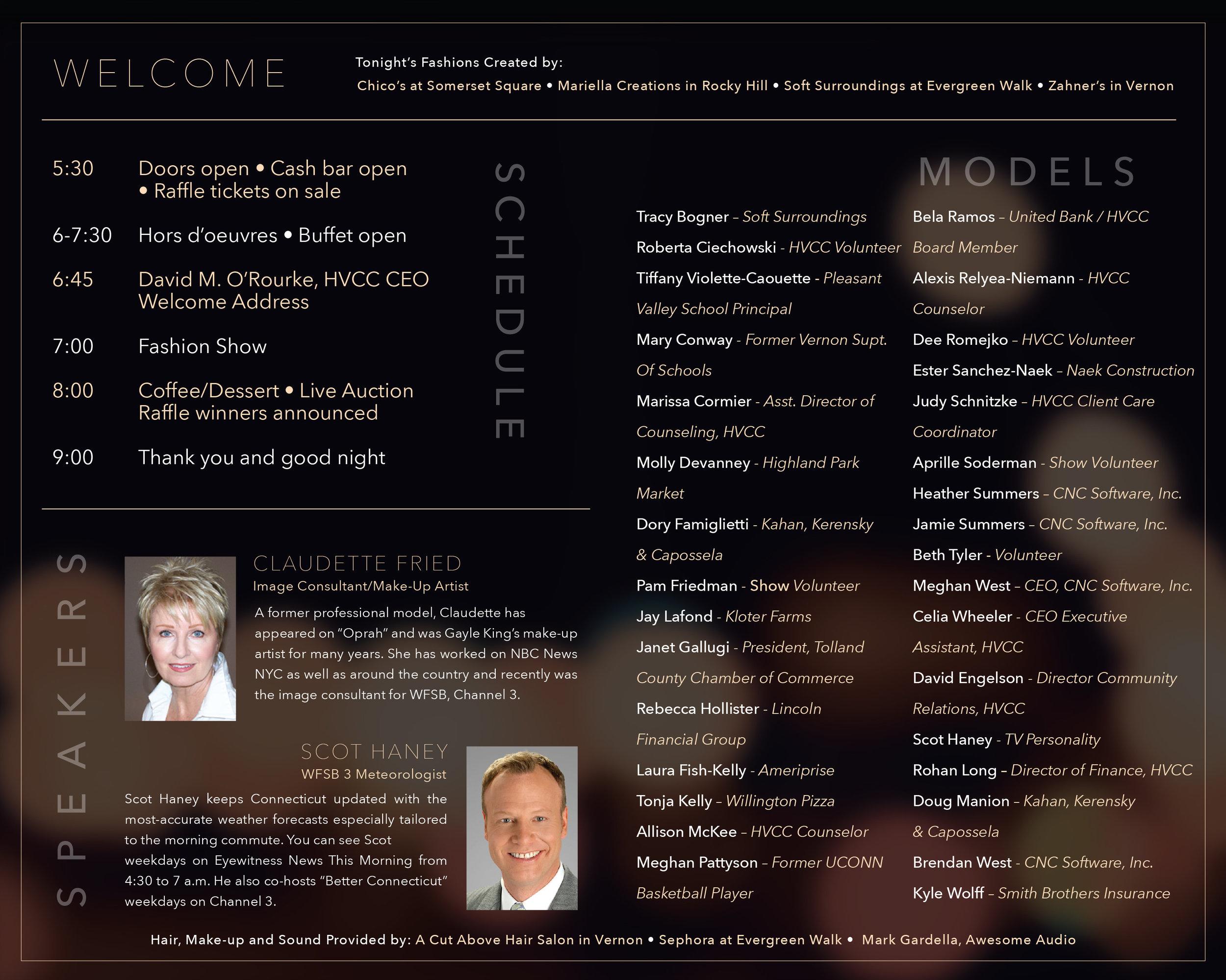 Fashion Show Program (inside) • Print