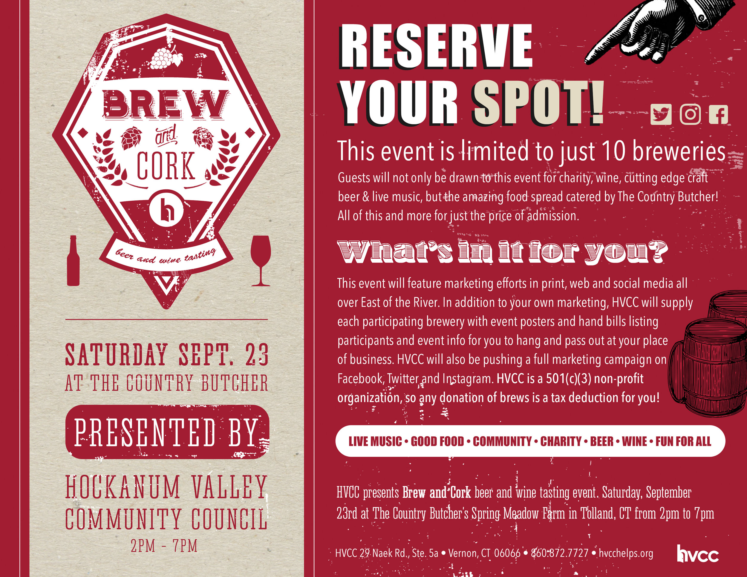 Participation Mailer for Craft Beer Event • Print/Web