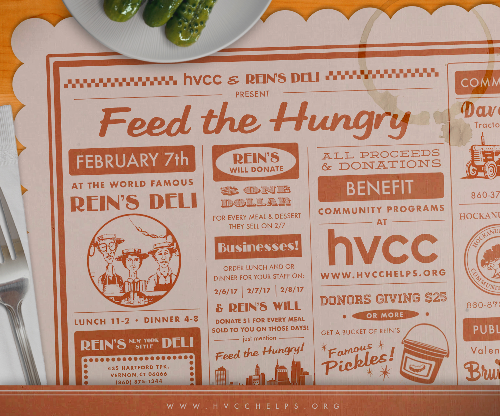 Feed the hungry charity event Promotion • Print/Web