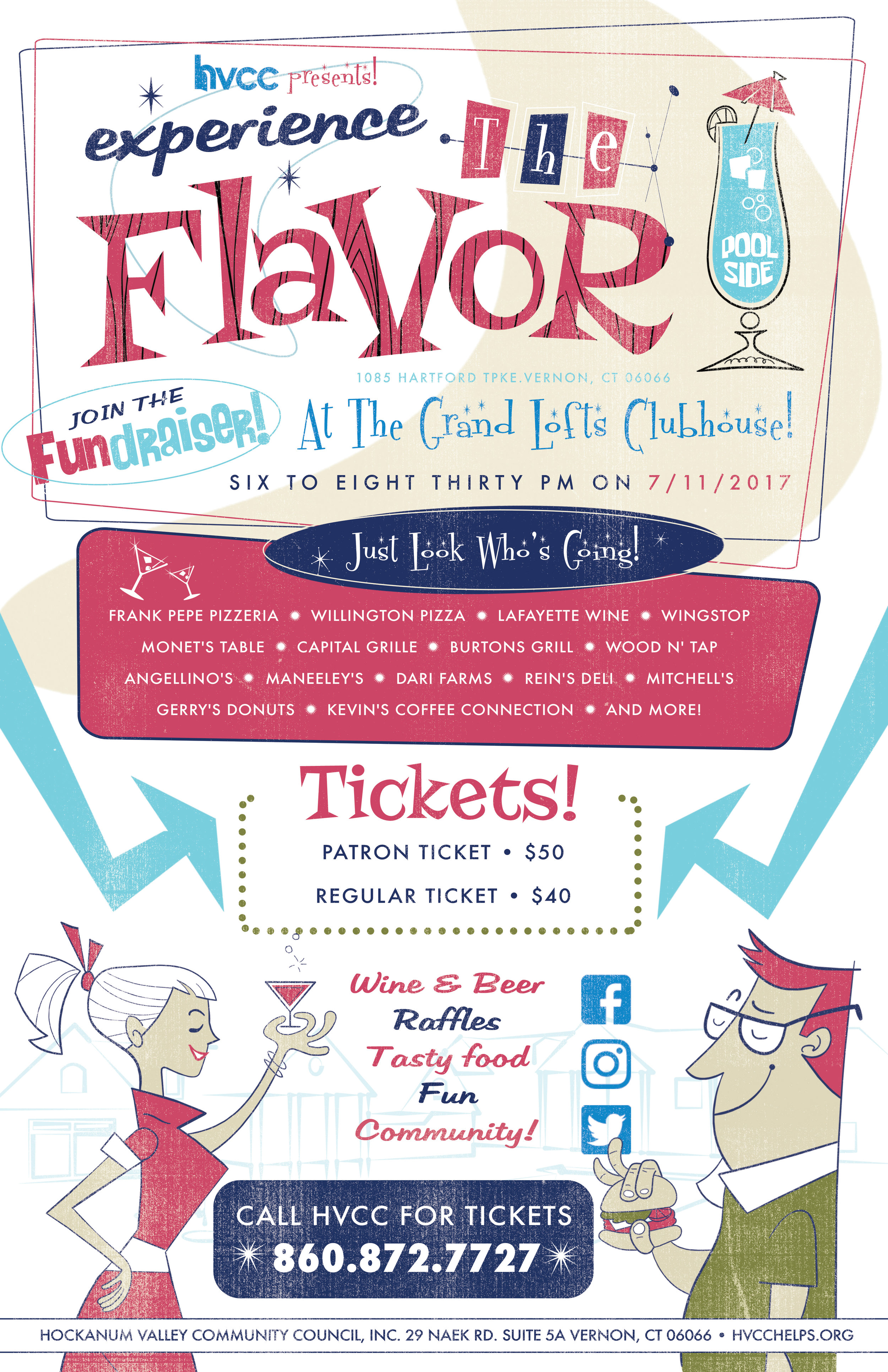 Experience the flavor food event promotion • Print/Web