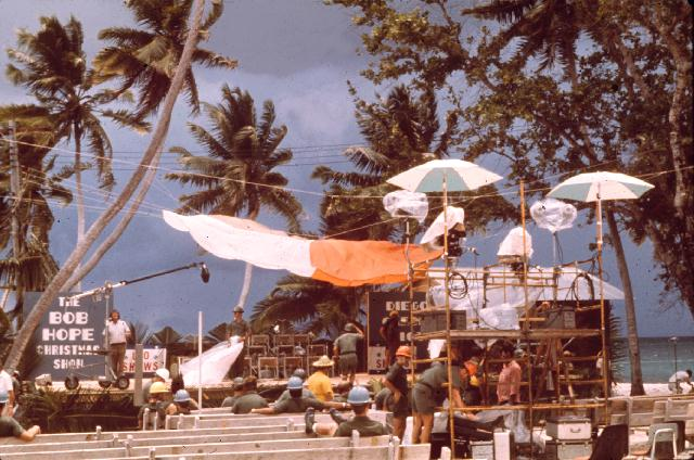 This picture of the Bob Hope stage was taken on December 25th 1972 at the Diego Garcia military base (highly classified at the time)