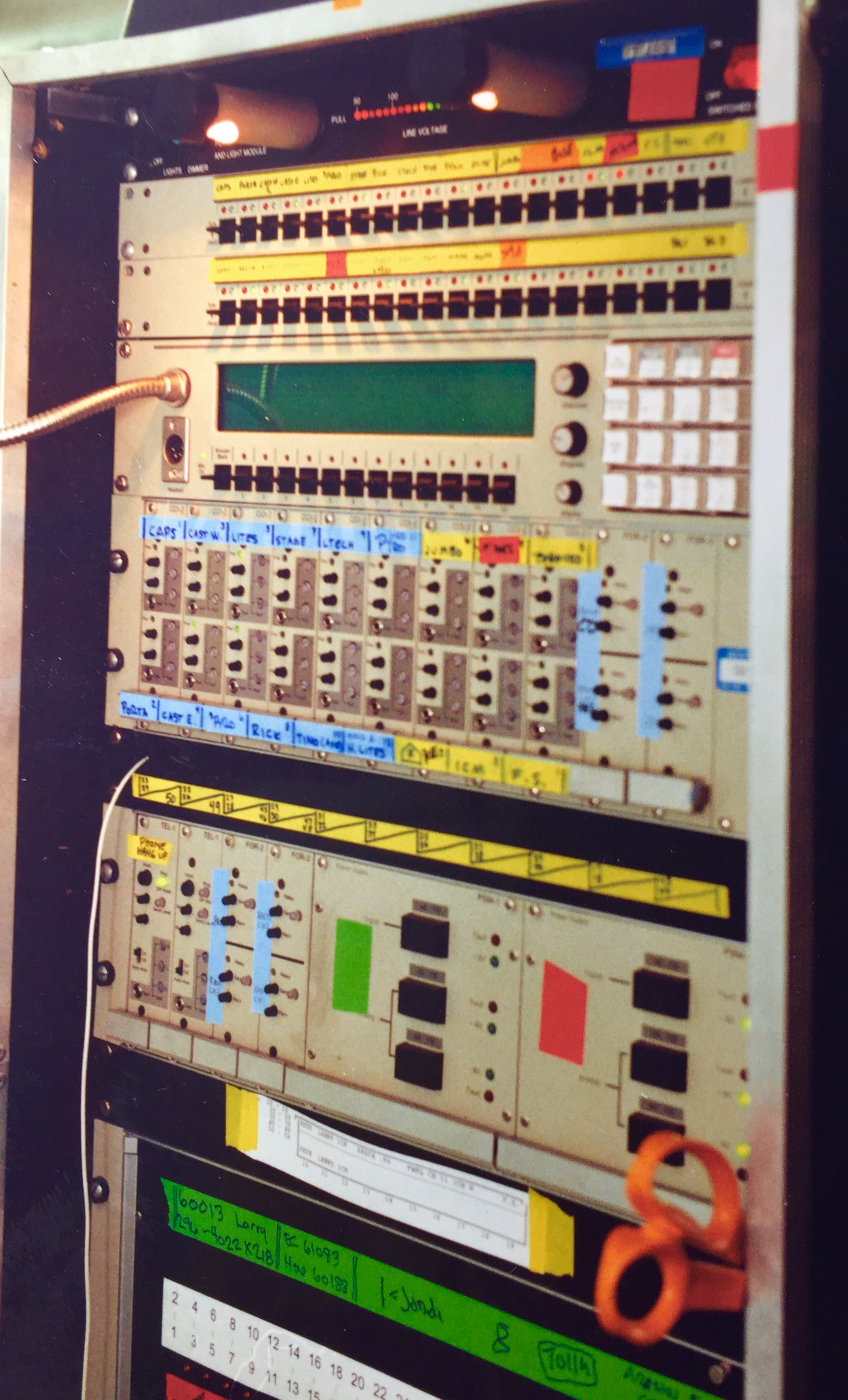 Clear-Com Matrix Plus system. Serial no 3 and first matrix ever used on a live event by Erskine-Shapiro Theatre technology.