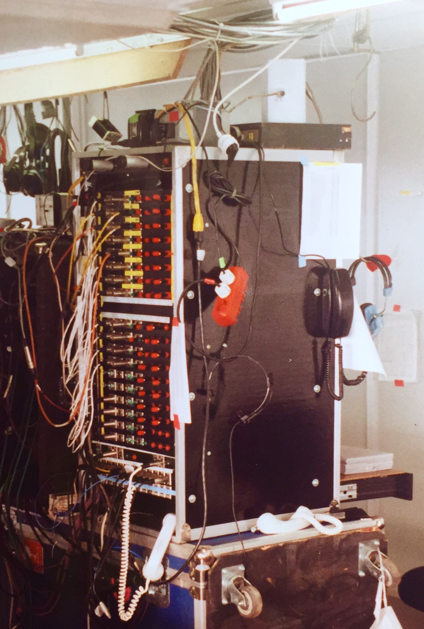 This is the rear of the Matrix system.  Each 4-wire port had a selection of connectors to nterface as well as the relay outputs for every CCI-22