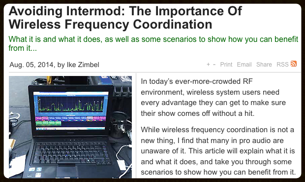 This is a great explanation on why we do Intermod calculations when coordinating frequencies.