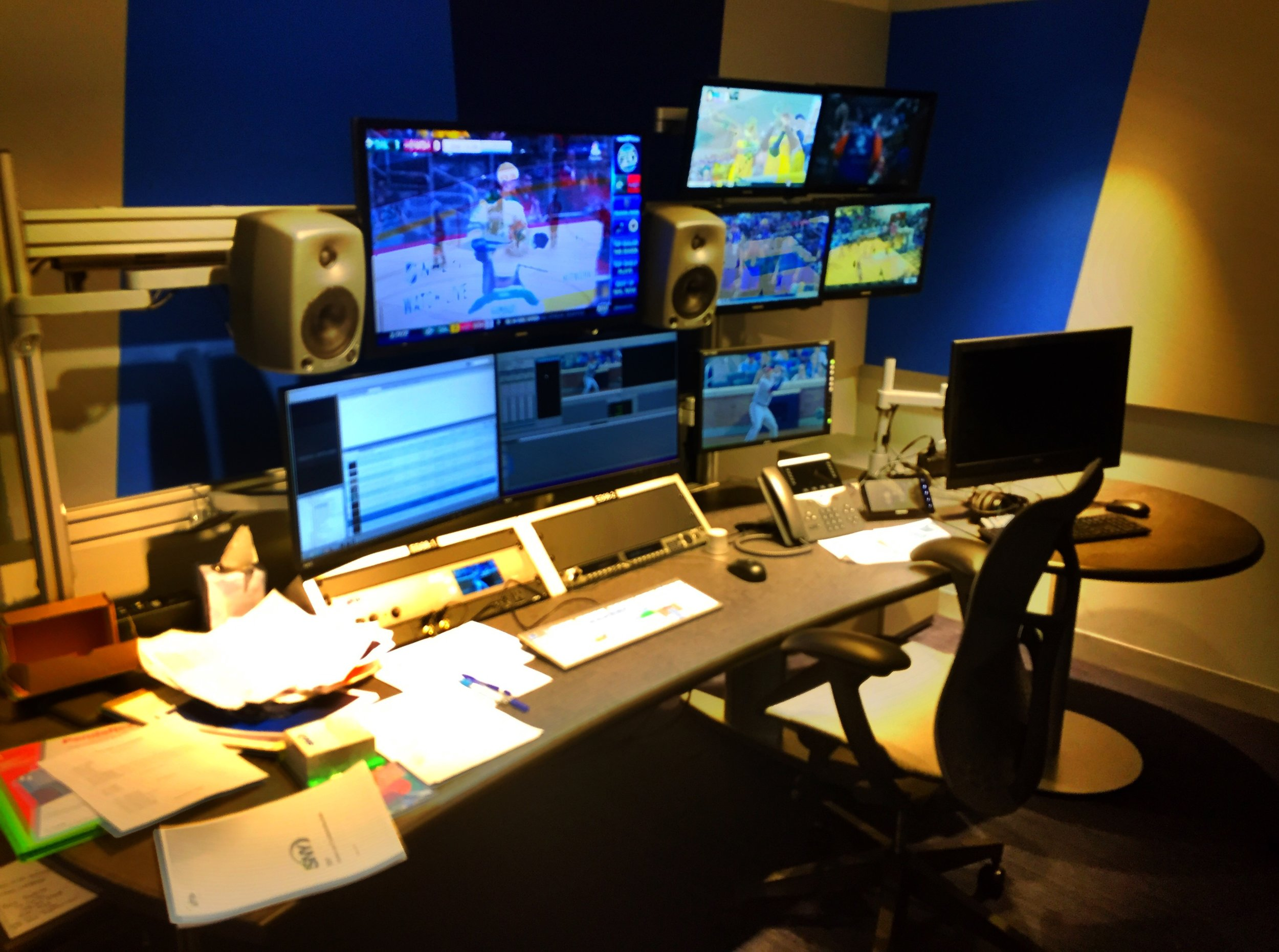 one of 14 edit rooms