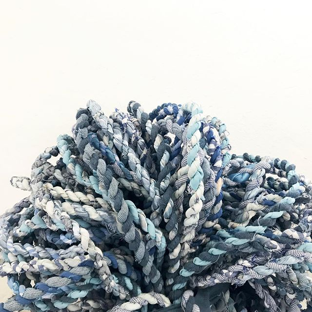 Ready to weave another Marrakesh bench with this lovely cord by @callaparis.  The hand-twisted cord  is made with remainder fabrics from fashion houses in Paris.  Look at that texture!