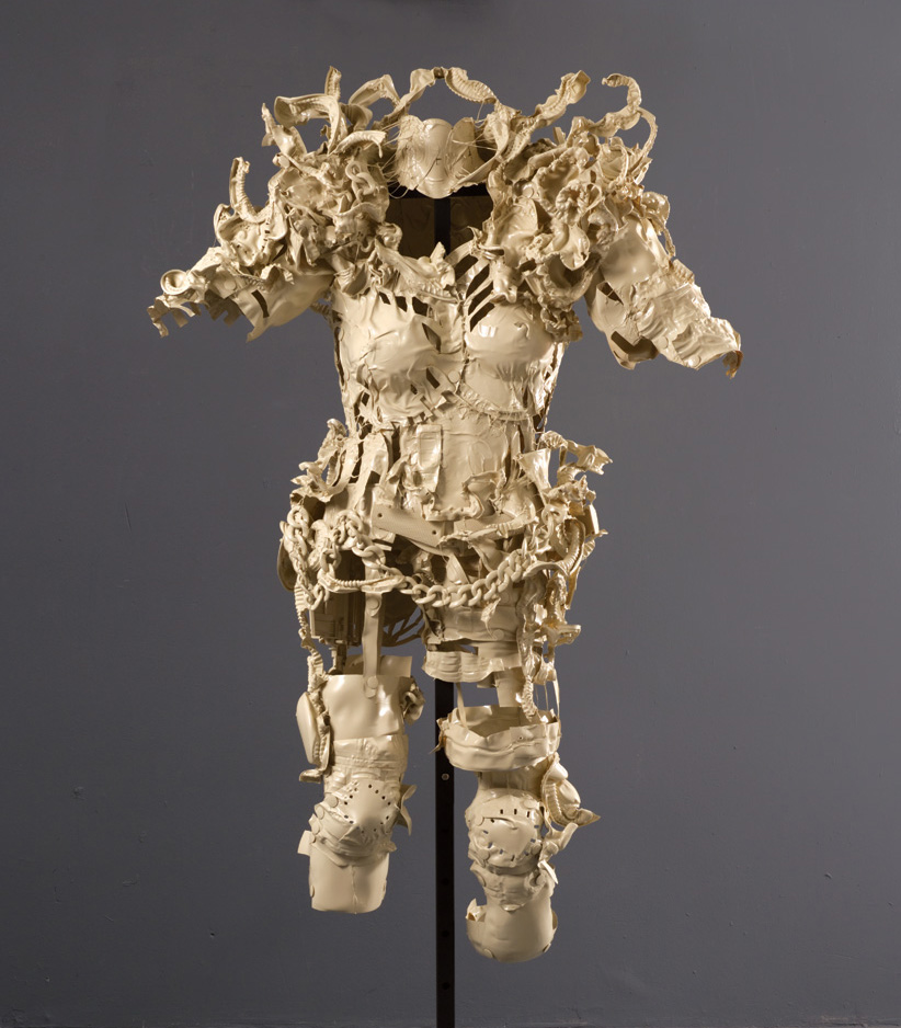 Normal   0   0   1   21   124   Artist   1   1   152   11.1287                      0       0   0              Suit of Armor #1,  2010 Recyclable plastic containers and lids, plastic chain, plastic gun pieces, glue, spray paint 52 x 36 x 24 in | 132 x 91 x 61 cm