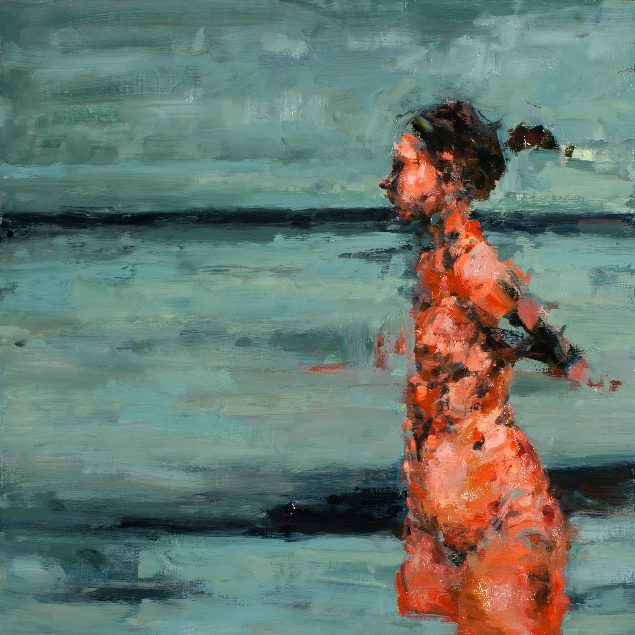 """Longing, oil on board, 16"""" x 16"""" x 2"""", 2013"""