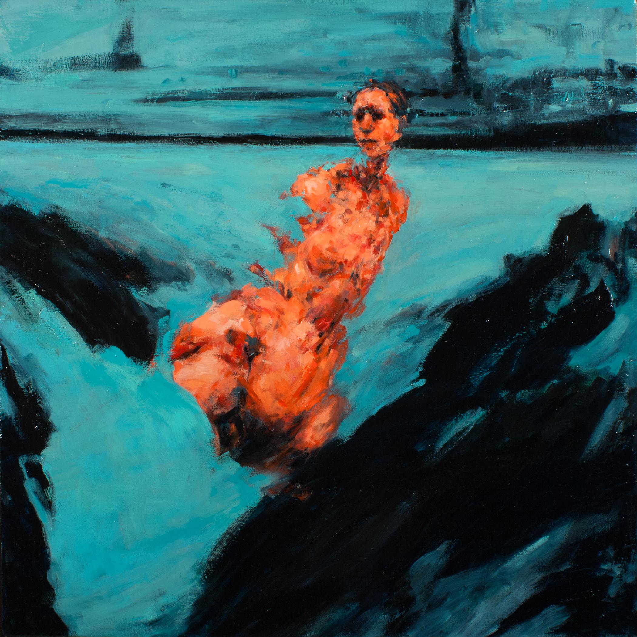 """Escape, oil on canvas, 32"""" x 32"""" x 2"""", 2013"""