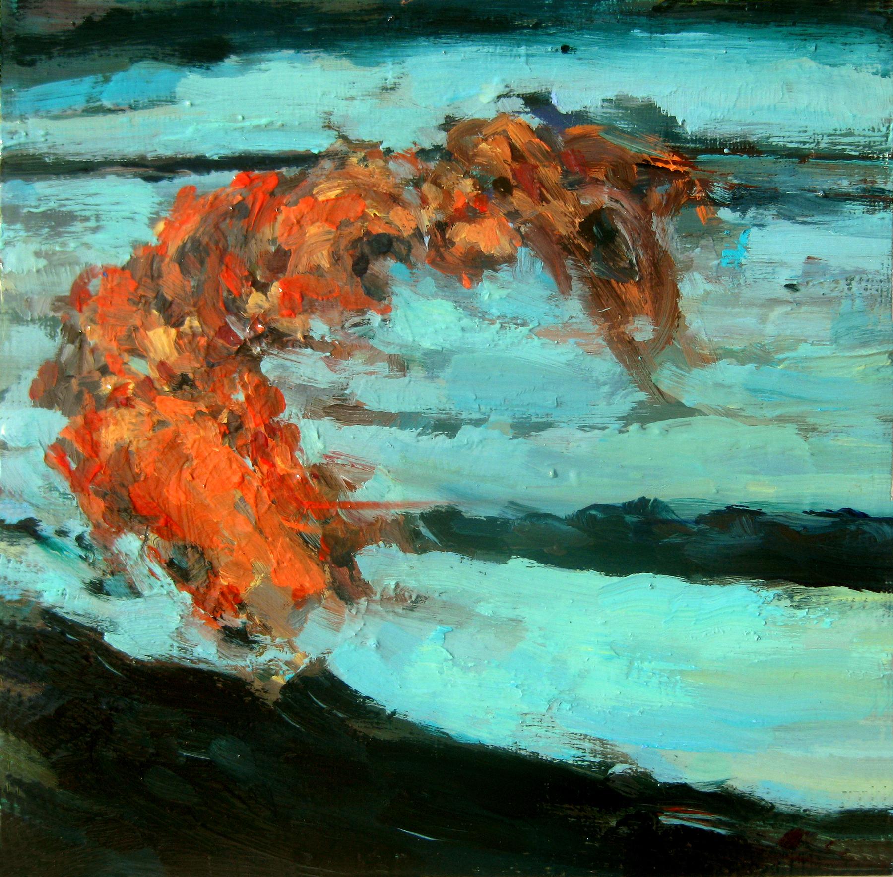 "Undertow, oil on board, 8"" x 8"", 2011"