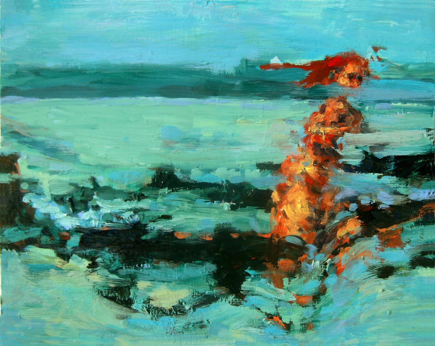 """Escape, oil on board, 8"""" x 10"""", 2011"""