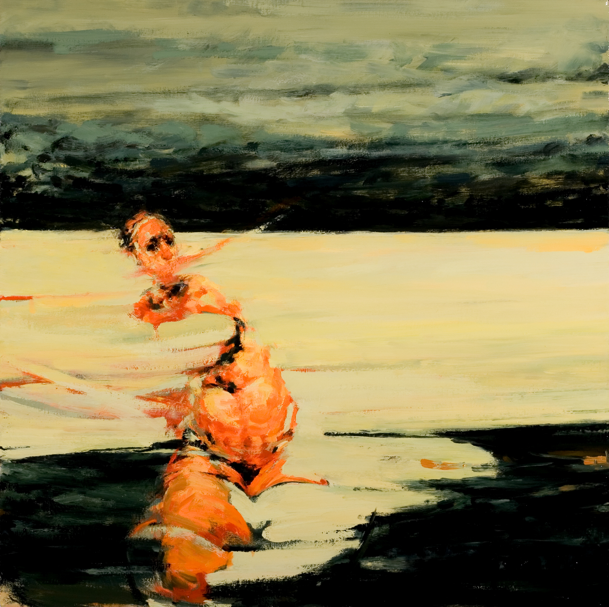 "Tug-o-war, oil on canvas, 32"" x 32"" x 2"", 2009 (SVA residency)"
