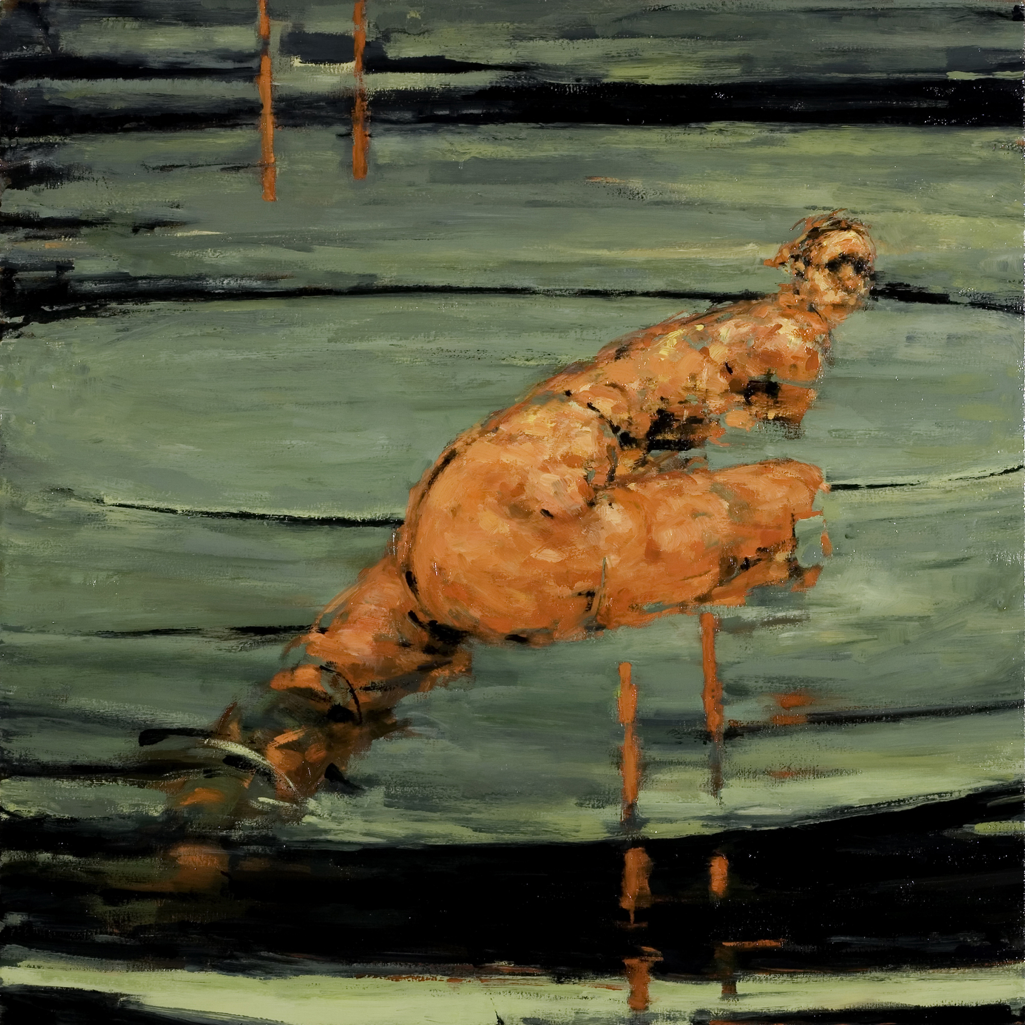 "Carousel (break), oil on canvas, 32"" x 32"" x 2"", 2009 (SVA residency)"