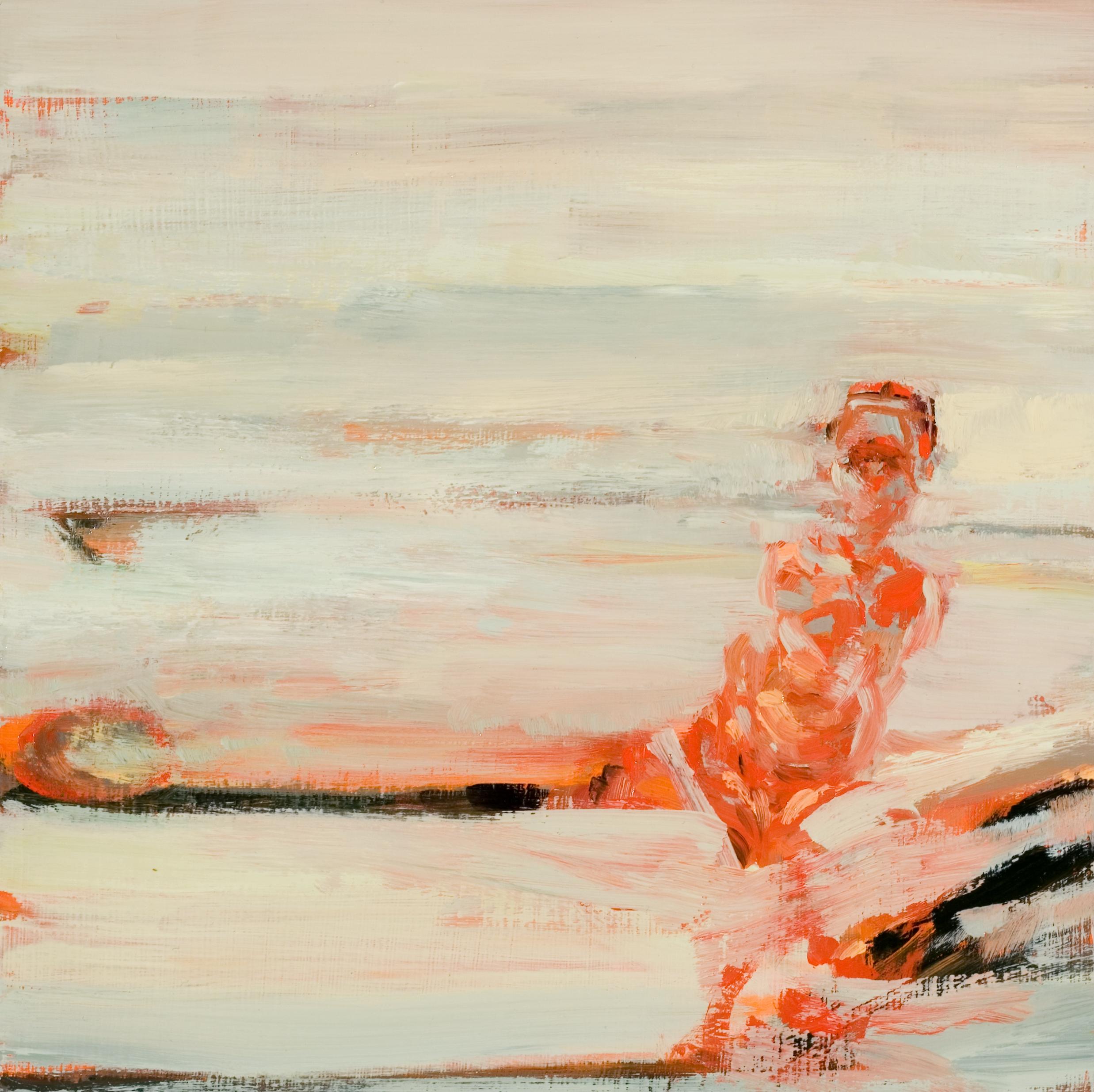 """Fissure, oil on board, 12"""" x 12"""" x 2"""", 2009 (SVA residency)"""