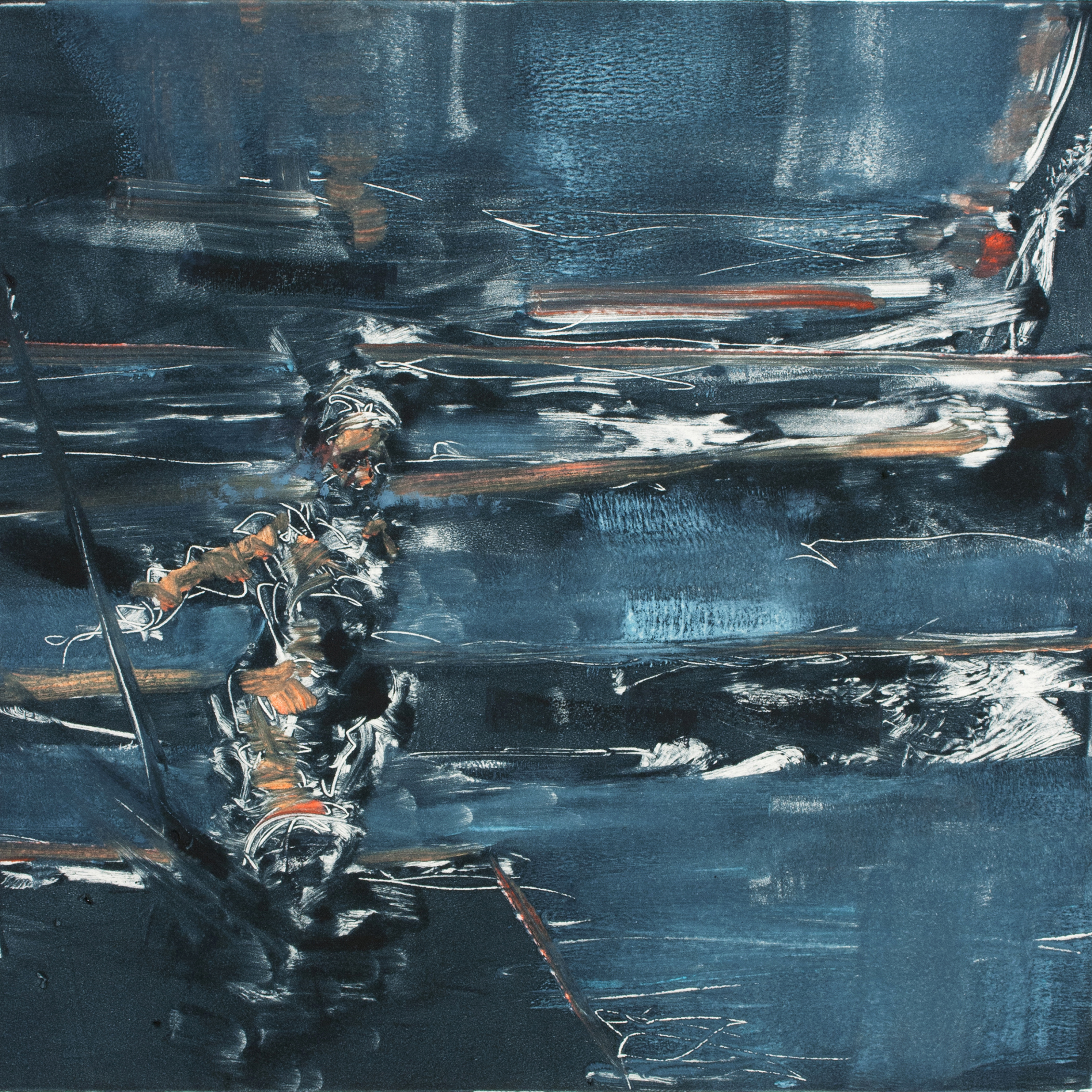 """'Proximal Cause', monotype, 11"""" x 11"""", 2013"""